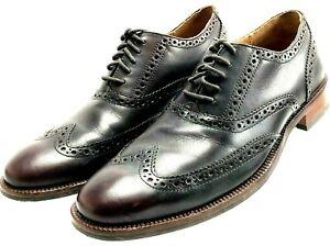 Cole Haan Men's Brown Lenox Hill Leather Wingtip Oxfords Brown Sz 7.5M - Mint