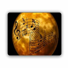 Moon With Music Notes Computer Mouse Pad Size Mousepad