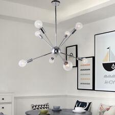 Chrome 8-Lights Modern Chandelier Height Adjustable Ceiling Light Fixtures Lamp
