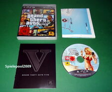 GTA 5 Grand Theft Auto Five GTA V  USK 18 fuer PS3 Playstation 3 m. OVP und MAP