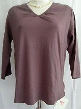 Damen-Shirts mit V-Ausschnitt ohne Muster für die Freizeit