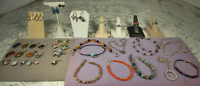 STERLING JEWELRY LOT 187.3g Mostly GEMSTONES All NICE No Junk Great for Gifting!