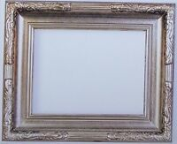 "3.5"" fancy ornate kinkade Wood Antique silver Picture Gallery Frame 608S 24x36"