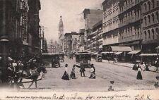 Postcard Market St. West from 8th Philadelphia Pa 1906