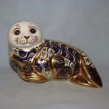 Royal Crown Derby paperweight Harbour Seal Gold Stopper sgn Hugh Gibson + Cert