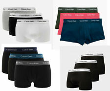 Calvin Klein CK Mens Pack of 3 Cotton Low Rise Underpants Boxers Trunks Briefs