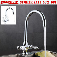 Astini Colonial Traditional Dual Ceramic Lever Monobloc Kitchen Sink Mixer Tap