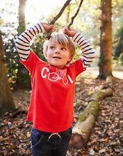 Joules Boys Liam Mock Layer Screenprint T Shirt  - RED COOL BIKE Size 2yr