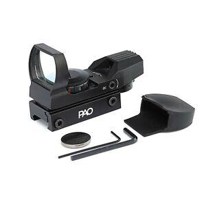 PAO® Multi-Reticle Red/Green Reflex Pistol & Rifle Sight Inc.Mount & Battery