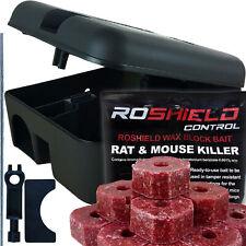 Roshield Rat Mouse Mice Killer Poison Blocks & Rodent Bait Station Box Pest Trap