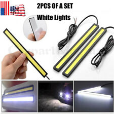 2XWhite 12V LED DRL Strip Lights Car Truck Boat Interior 17CM Under DashFloor US