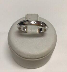 Fedina COMETE ref. ANG 108 MORSE in argento 925 con zircone misura 11