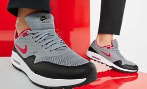 """Air Max 1 G """"Golf"""" CI7576 002 Particle Grey/University Red New Men Size 8"""