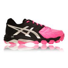 Asics Gel-Blackheath 6 para mujer UK 5 Rosa Negro Acolchado Hockey Zapatos Zapatillas