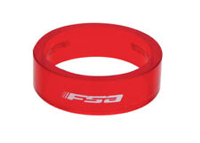 "Pack de 10 - Poly Spacer / Entretoise de 10mm - Dia. 1""1/8 - FSA - Rouge - NEUF"