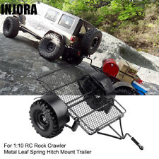 RC Cars Metal Leaf Spring Hitch Mount Trailer for 1/10 RC Crawler Accessories