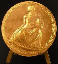 Médaille Académie d'Architecture 1953 sc H Navarre non attribuée 68 mm  Medal