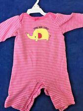 SALE @ CIRCO Baby Romper Sleeper One Piece LOVE YOU TONS Elephant Girls Sz 3M