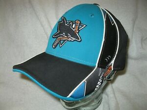 CCM face off apparel San Jose Sharks fitted hat for adults one size fits all