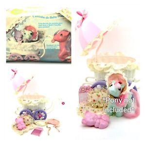⭐️ My Little Pony ⭐️ G1 Brazilian Baby Cuddle's Buggy w/orig Accessories & Box!