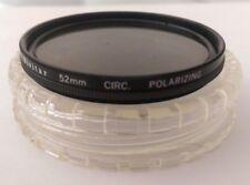 Vivitar Circular Polarizing Filter 52mm with case