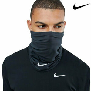 Nike Neck Warmer Running Wrap Black Face Mask Gaiter Swoosh Dri Fit AC3602-001