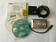 Nikon COOLPIX S3500 20.1MP Digital Camera - Silver disks manual memory card +box