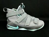 Nike Zoom Lebron Soldier XI Igloo Grey Teal Basketball Shoes Sz 7Y (918369-003)
