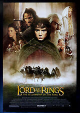 LORD OF THE RINGS FELLOWSHIP OF THE RING  CineMasterpieces ORIGINAL MOVIE POSTER