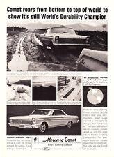 "1965 Mercury Comet Coupe photo ""Durability Champion"" promo print ad"