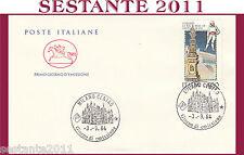 ITALIA FDC IL CAVALLINO VITERBO MACCHINA SANTA S. ROSA 1984 ANNULLO MILANO H388