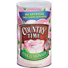 Country Time Pink Lemonade 2 Cans 5 lb x 2 = 10 lbs Drink Mix Powder - 68 quarts