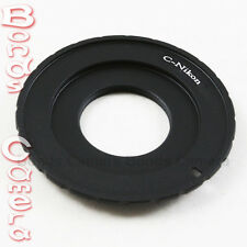 "Macro C mount 16mm 1/2"" 2/3"" CCTV lens to Nikon F adapter D800 D3200 D5200 D7100"