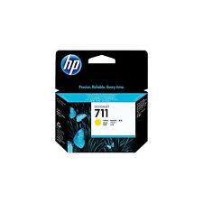 3 x HP 711 Yellow 29ml ink Cartridge CZ132A  Designjet T120 T520 inc VAT CZ136A