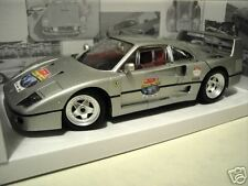 FERRARI  F40 silver 60th RELAY au 1/18 HOT WHEELS MATTEL L2958 voiture miniature