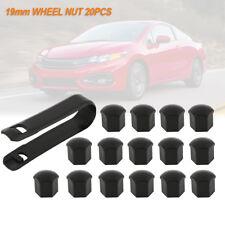 19mm Car Plastic Caps Bolts Head Covers Nuts Alloy Wheel Matte Black 20pcs AU