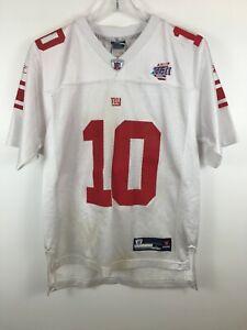 Eli Manning New York Giants NFL Jersey VTG Reebok Super Bowl Size Youth Large L