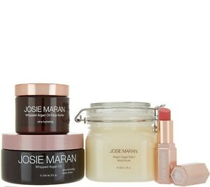 Josie Maran Whipped Argan Oil Body & Face Butter, Scrub Watermelon Revivers SET