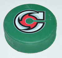 CINCINNATI CYCLONES Team Logo on GREEN COLORED PUCK ECHL Blank Back Rare