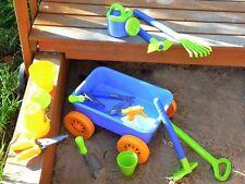 Gro�Ÿes Kinder Garten Set Spielzeug Sandkasten Sandset mit Zugwagen 15 teilig Neu