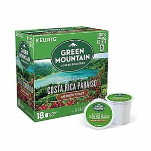 Green Mountain Costa Rica Paraiso Coffee 18 to 144 Keurig Kcup Pick Any Quantity