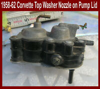 Corvette Parts 1958 1959 1960 1961 1962 Windshield Washer Pump Top Piece Flawed