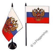Tischflagge RUSSLAND MIT WAPPEN russische Tischfahne 10x15cm