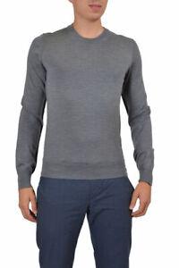 Dolce & Gabbana Men's Gray Alpaca Virgin Wool Crewneck Sweater US 2XL 3XL