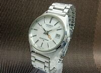 SEIKO Duo Time 5619-7000 GMT Date Silver Dial Automatic Vintage Watch 1972's