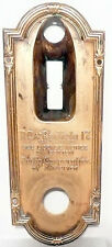 vIntage RCA RADIOLA 17  part:  FRONT DIAL BRASS ESCUTCHEON (faceplate)