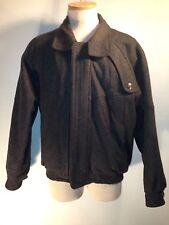 Vintage Hunting Horn J. Riggings Wool Blend Mens Medium Charcoal Jacket