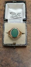 EMERALD RING YELLOW GOLD HALLMARKED,SIZE S