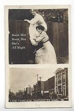 1913 Manchester, Iowa, E. Side Franklin St. RPPC