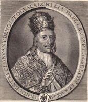 Portrait XVIIIe Benedetto Odescalchi Pape Innocent XI Papa Innocenzo XI 1750